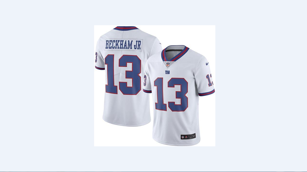 best loved 9b043 c3216 Nike Giants #13 Odell Beckham Jr White Men's Stitched NFL ...